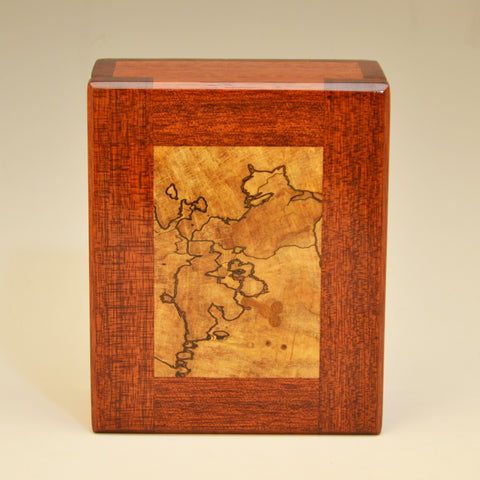 Bloodwood & Spalted Maple Large Keepsake Box