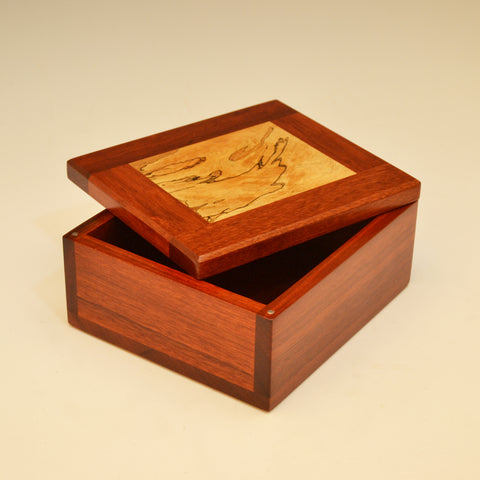 Bloodwood & Spalted Maple Small Valet Box