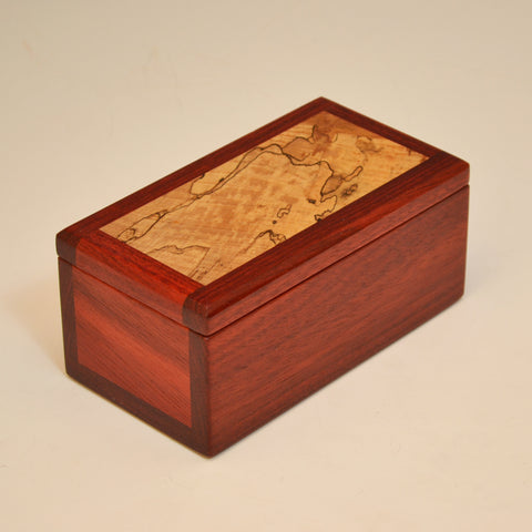 Bloodwood & Spalted Maple Small Keepsake Box