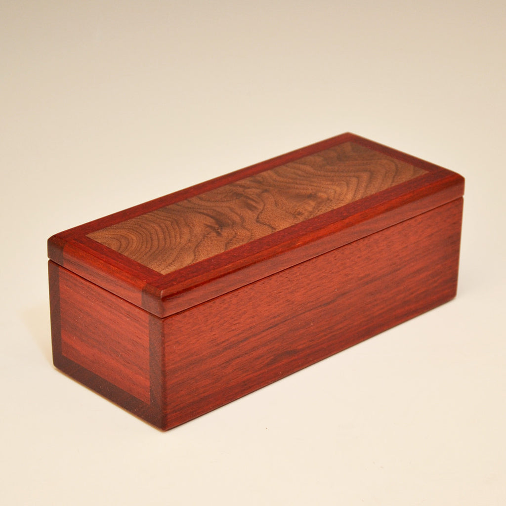 Bloodwood and Black Walnut Small Valet Box
