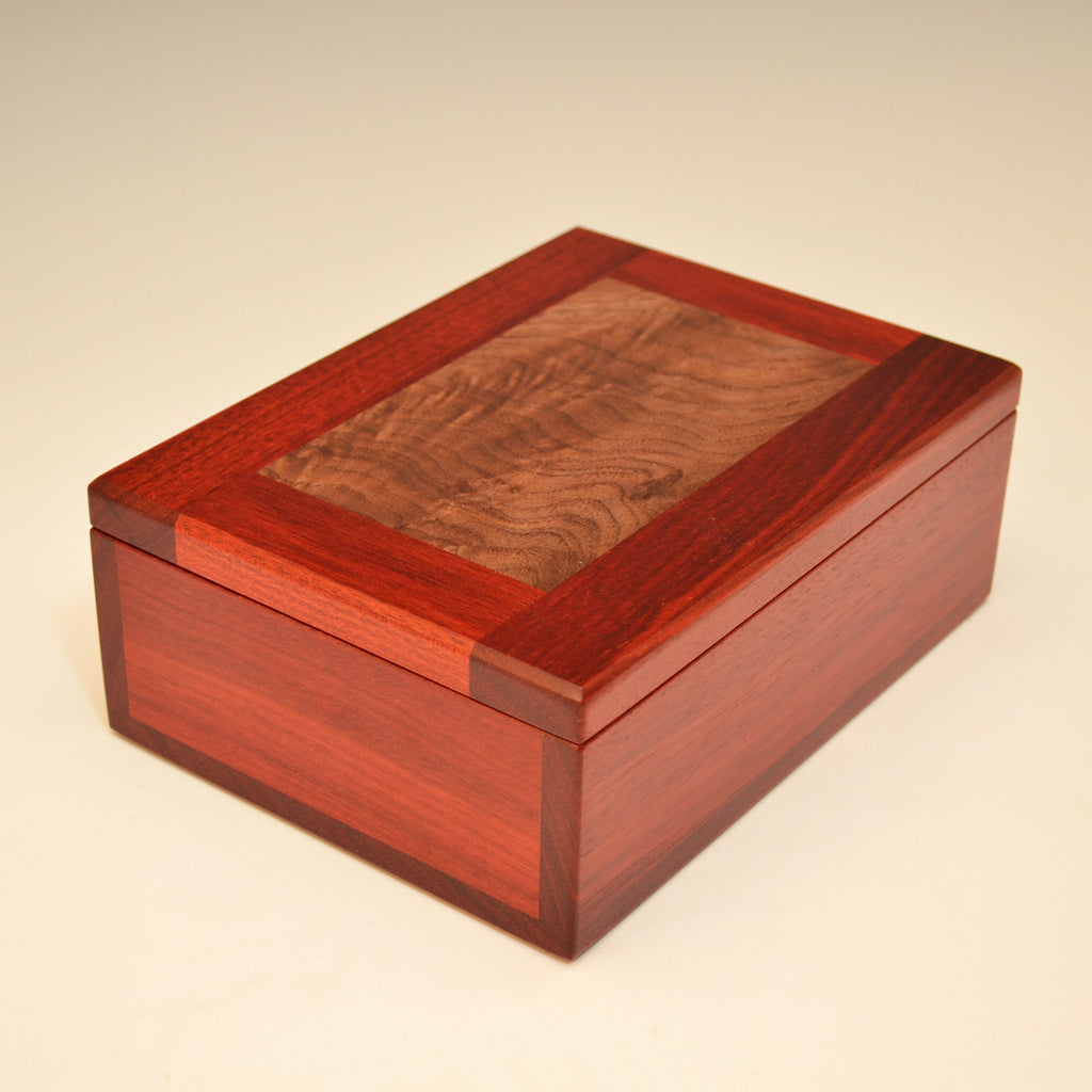 Bloodwood & Black Walnut Medium Valet Box
