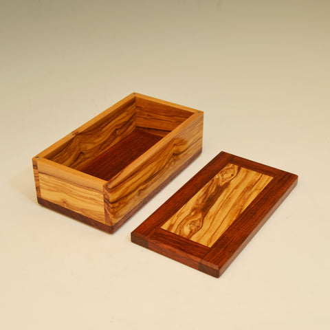 Bubinga & Olivewood Medium Valet Box