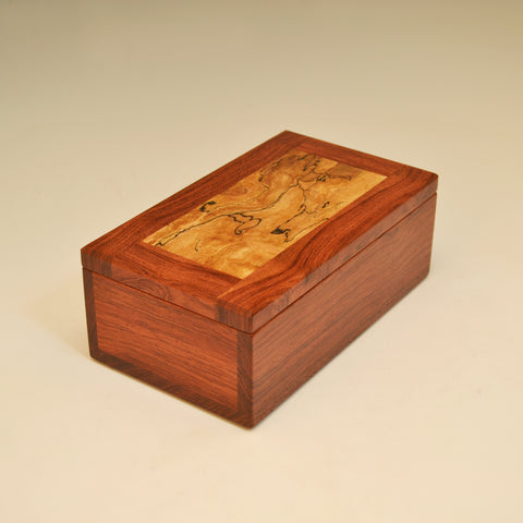 Bubinga & Spalted Maple Meduim Valet Box