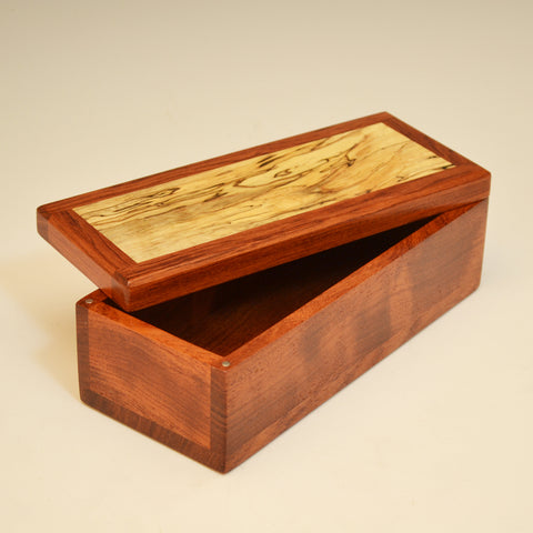 Bubinga & Spalted Maple Small Valet Box
