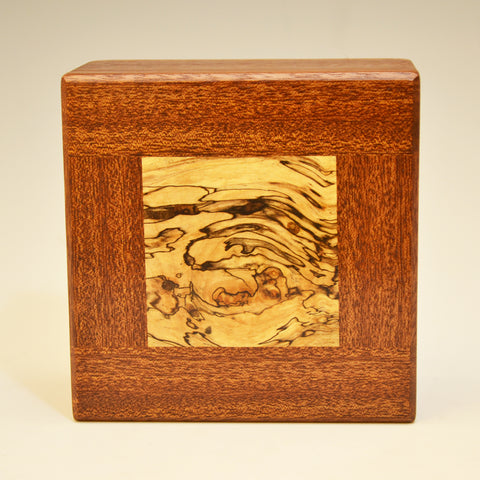 Mahogany & Spalted Maple Small Square Valet Box