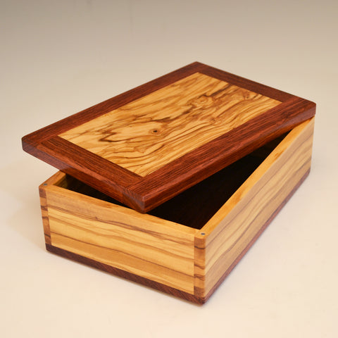 Olivewood & Bubinga Medium Valet Box
