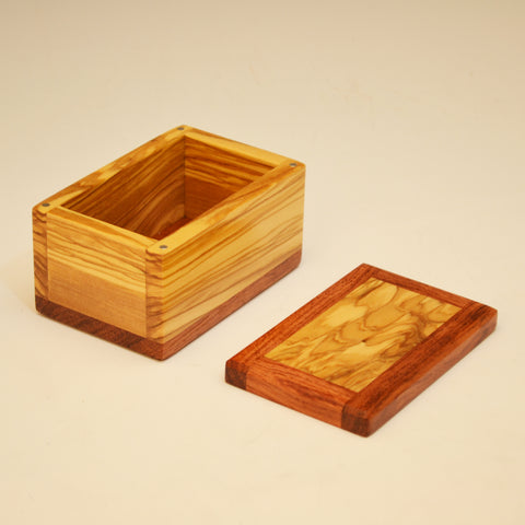 Olivewood & Bubinga Small Keepsake Box