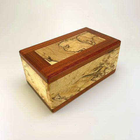 Spalted Maple & Bloodwood Eyeglass Box