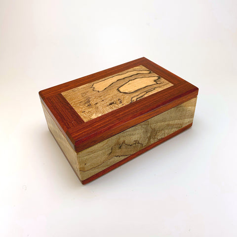 Spalted Maple & Bloodwood Small Valet Box