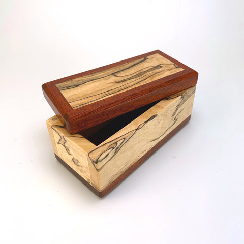 Spalted Maple & Bloodwood Keepsake Box