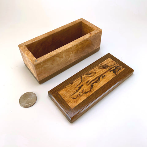 Spalted Maple & Ipe Mini Keepsake Box