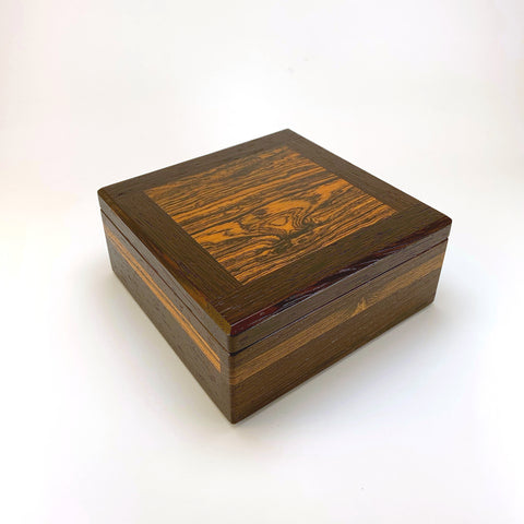 Wenge & Bocote Square Medium Valet Box