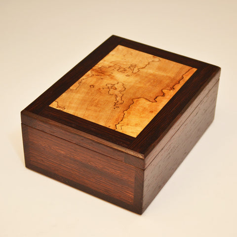 Wenge & Spalted Maple Small Valet Box