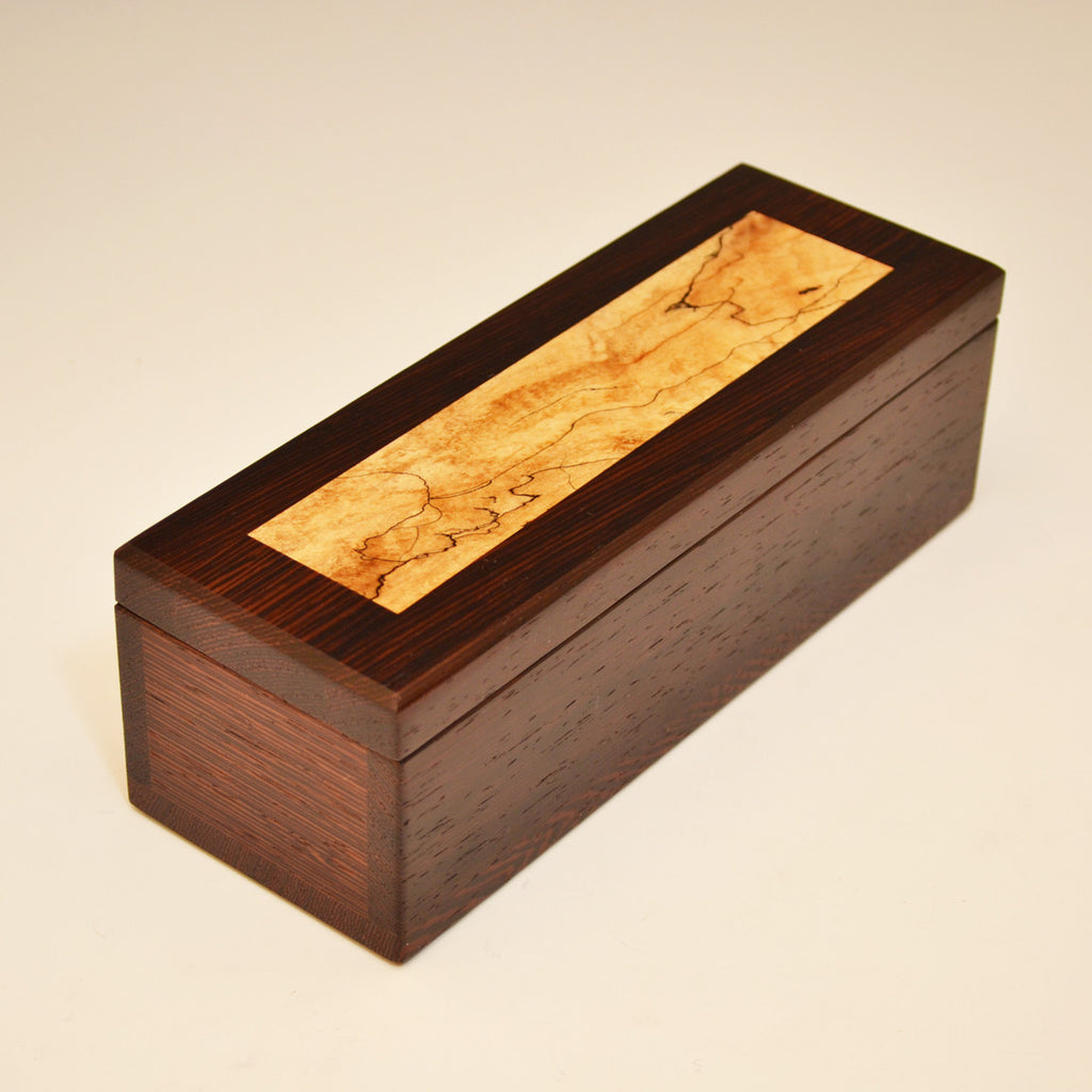 Wenge & Spalted Maple Small & Long Valet Box