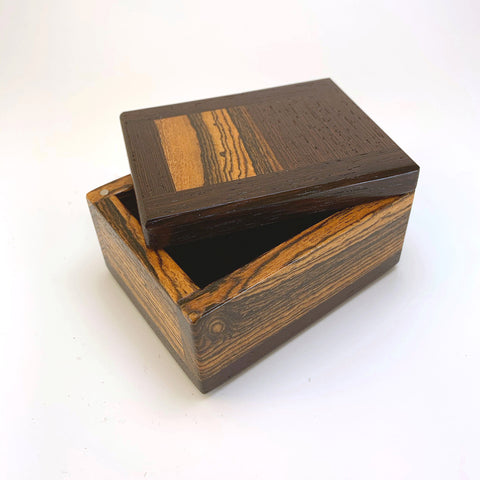"Wenge & Bocote ""Brianna"" Extra Small Keepsake Box One of a Kind"