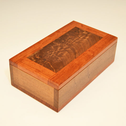 Black Walnut & Bubinga Medium Valet Box