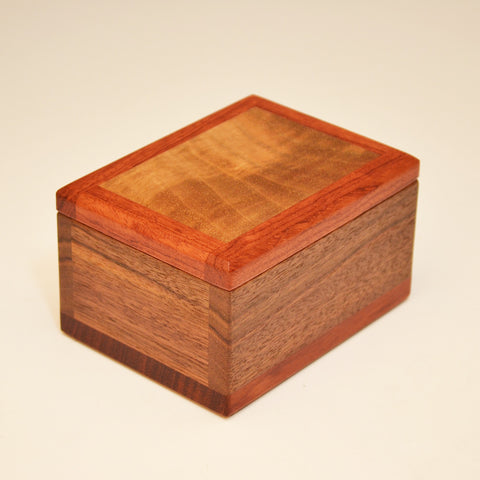 Black Walnut & Bubinga Keepsake Box