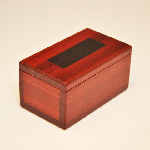 """Herringbone"" Bloodwood & Wenge Keepsake Box"