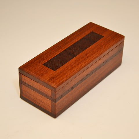 """Herringbone"" Ipe & Wenge Keepsake Box"