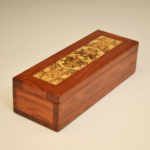Bubinga & Spalted Oak Medium Long Valet Box