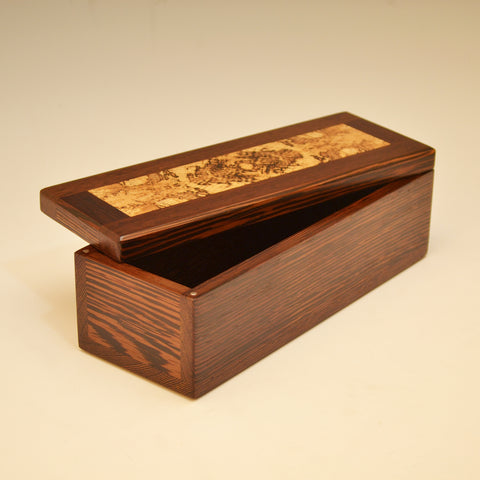 Wenge & Spalted Oak Long Valet Box