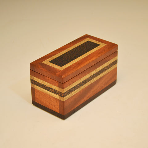 "Mahogany, Maple & Black Limba Small ""Dennis"" Keepsake Box"