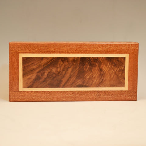 Mahogany, Black Walnut, & Maple Large Valet Box