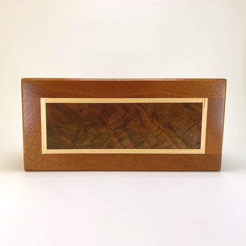 "Mahogany & Black Walnut ""Dennis"" Medium Valet Box"