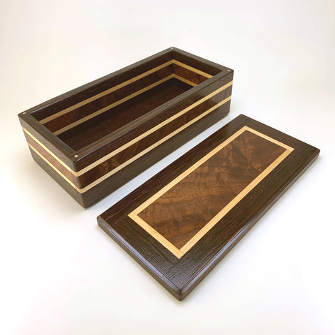 "Wenge & Black Walnut ""Dennis"" Medium Valet Box"