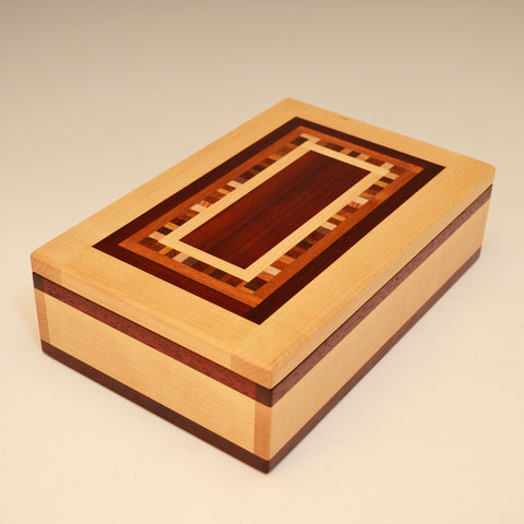 """Dana"" Maple & Paduak Large Valet Box"