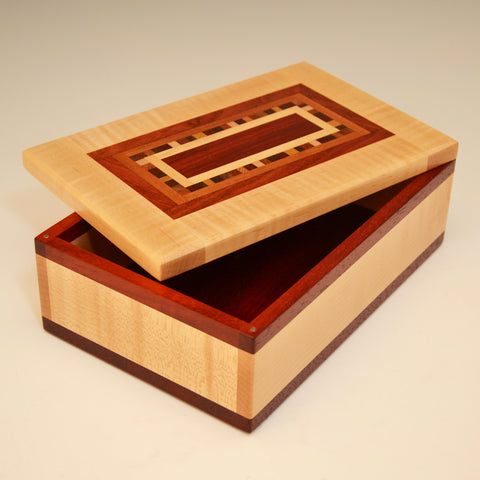 "Maple & Paduak ""Dana"" Medium Valet Box"