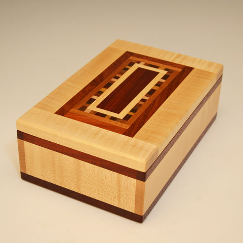 """Dana"" Maple & Paduak Medium Valet Box"