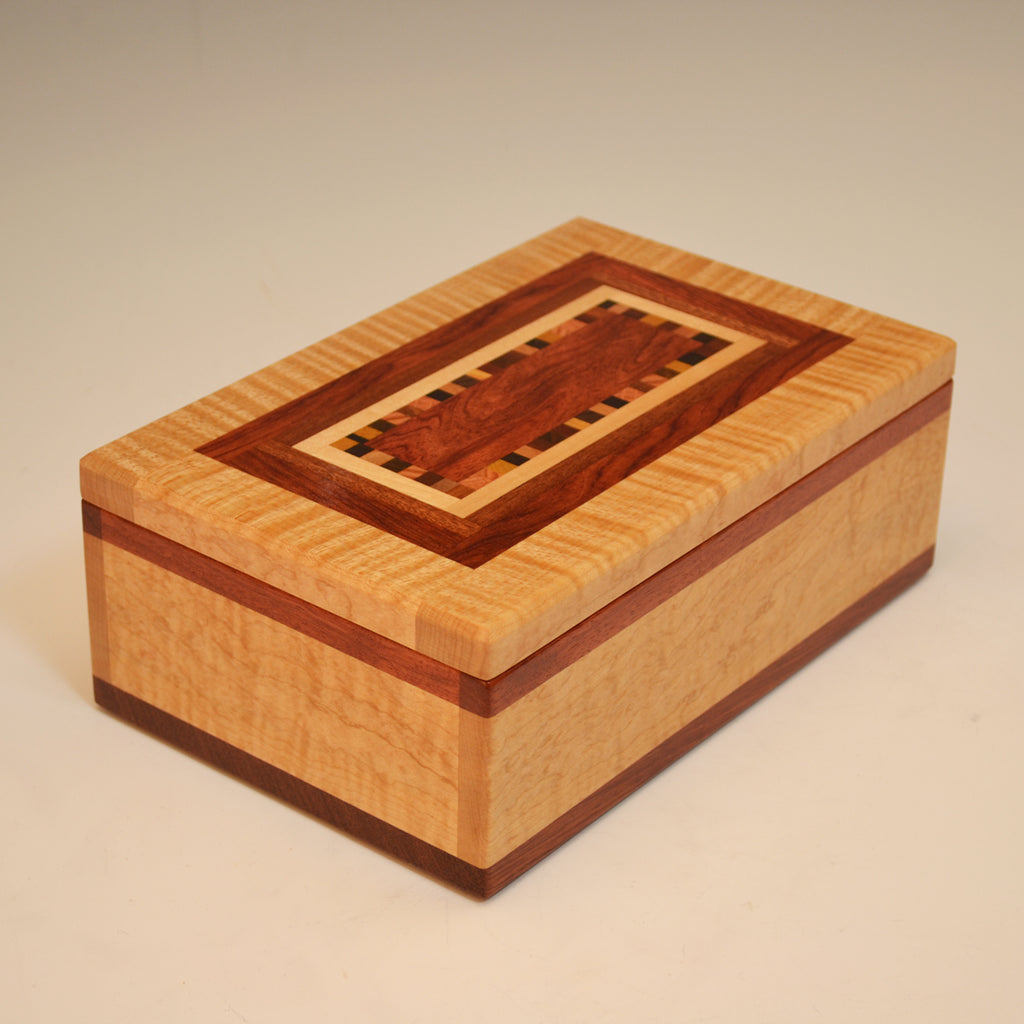 "Maple & Bubinga ""Dana"" Medium Valet Box"