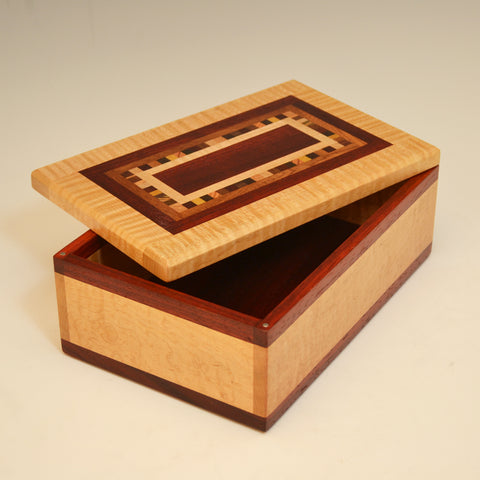 "Maple & Paduak ""Dana"" Medium Large Valet Box"