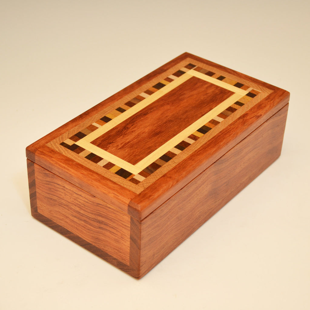 "Bubinga ""Dana"" Medium Valet Box"