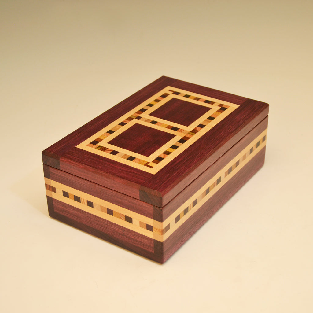 "Purpleheart ""Xander"" Medium Large Valet Box"