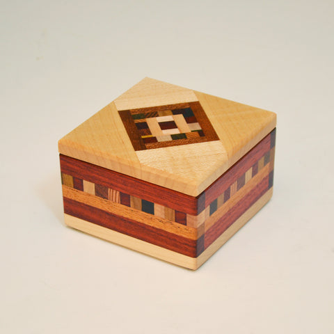 "Mini ""Marsha"" Bloodwood & Maple Keepsake Box"