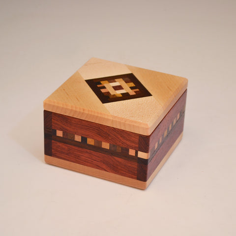 "Mini ""Marsha"" Bubinga & Maple Keepsake Box"