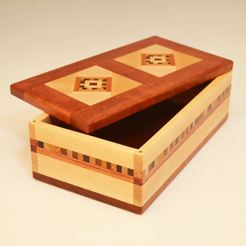 "Maple & Bubinga Double ""Marsha"" Large Valet Box"