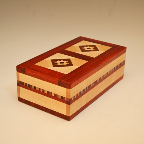 "Maple & Paduak Double ""Marsha"" Large Valet Box"