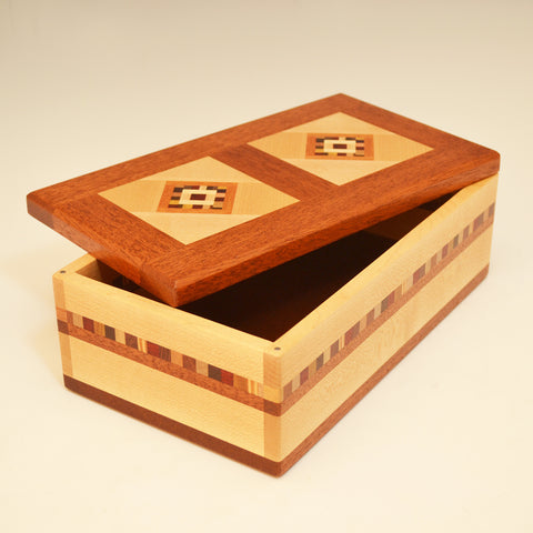 "Maple & Mahogany Double ""Marsha"" Large Valet Box"