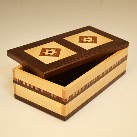 "Maple & Wenge Double ""Marsha"" Large Valet Box"