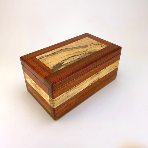 "Bloodwood & Spalted Maple ""Brianna"" Eyeglass Box"