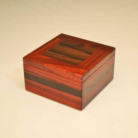 Bloodwood & Zircote Large Square Keepsake Box