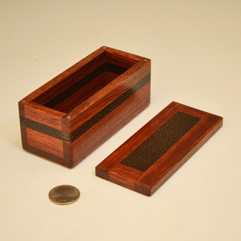 Bubinga & Black Palm Small Keepsake Box