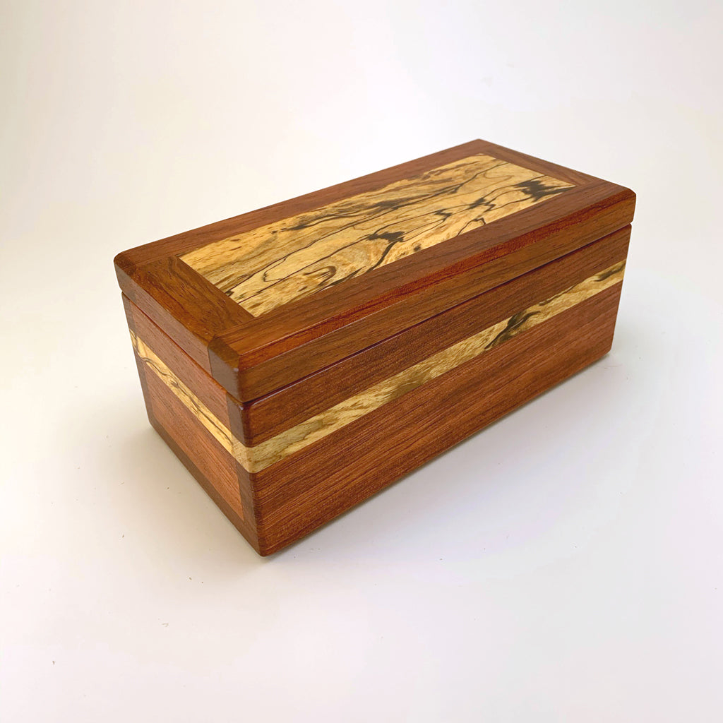 "Bubinga & Spalted Maple ""Brianna"" Eyeglass Box"