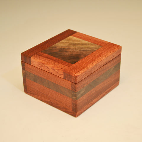 Bubinga & Black Walnut Large Keepsake Box