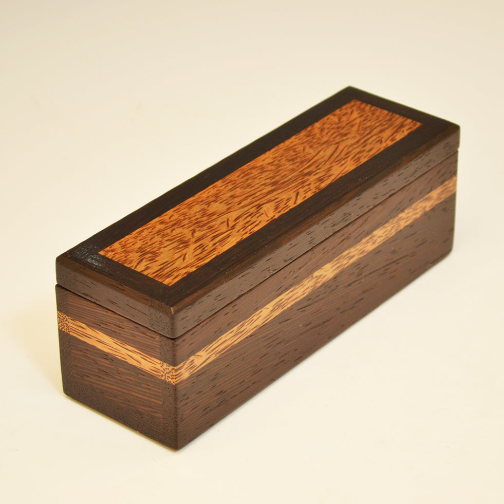 Wenge & Red Palm Long Keepsake Box