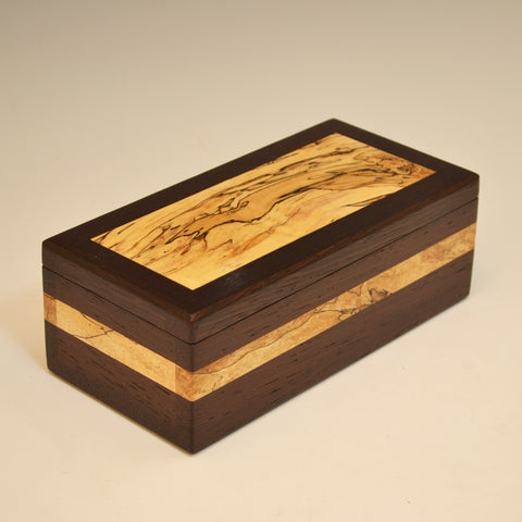 Wenge & Spalted Maple Medium Small Valet Box