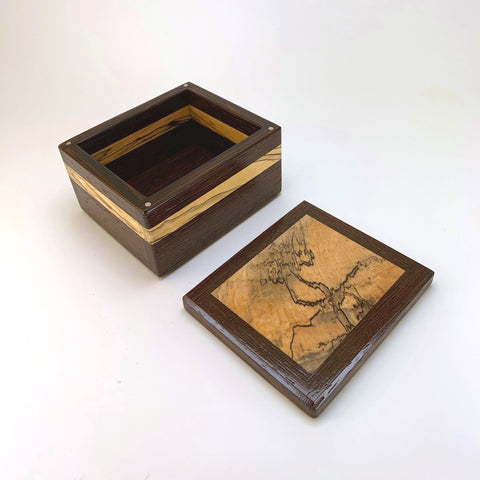 "Wenge & Spalted Maple ""Brianna"" Small Keepsake Box"
